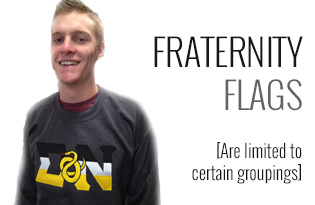 7DaysaGreek | Fraternity & Sorority Flag Letters Custom Shirts
